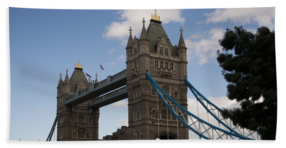 Towers Beach Towel featuring the photograph Tower Bridge London by Christopher Rowlands