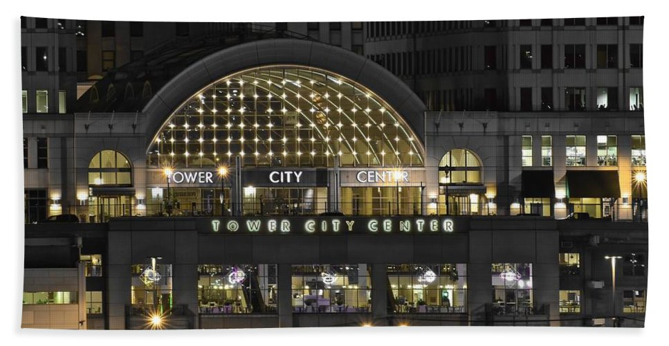 Cleveland Beach Towel featuring the photograph Tower City Close Up by Frozen in Time Fine Art Photography