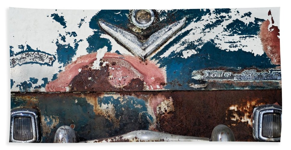 Chrysler Beach Towel featuring the photograph Town And Country Bumper by Julie Niemela