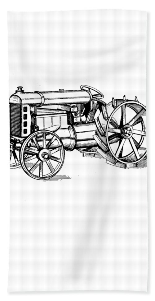 Patent Beach Towel featuring the photograph Tractor 1919 Henry Ford T-shirt by Edward Fielding