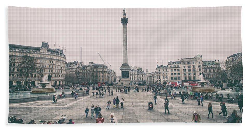 Europe Beach Towel featuring the photograph Trafalgar Square by Martin Newman