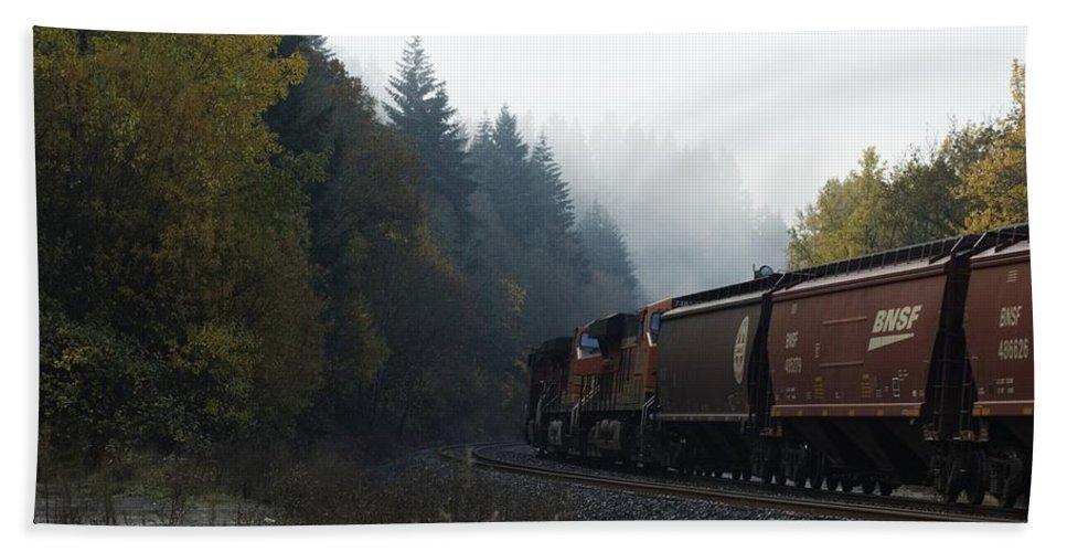 Train Beach Towel featuring the photograph Train 1 by Sara Stevenson