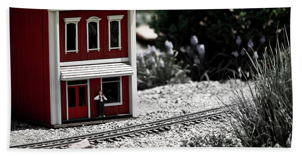 Train Beach Towel featuring the photograph Train Station by Marilyn Hunt