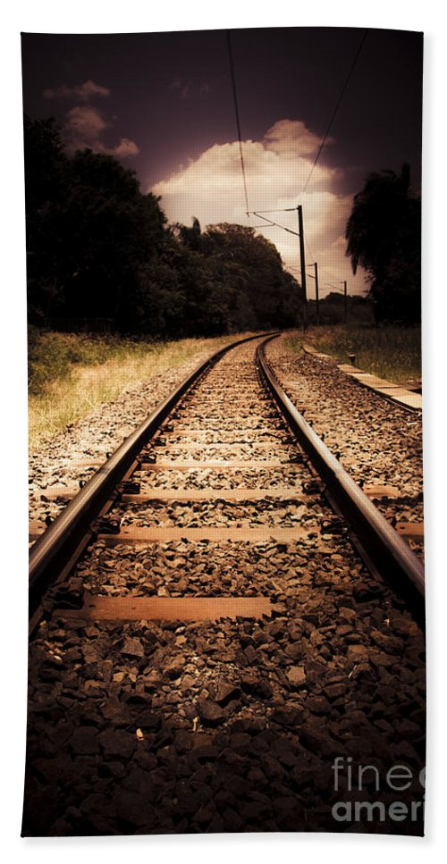 Commute Beach Towel featuring the photograph Train Tour Of Darkness by Jorgo Photography - Wall Art Gallery