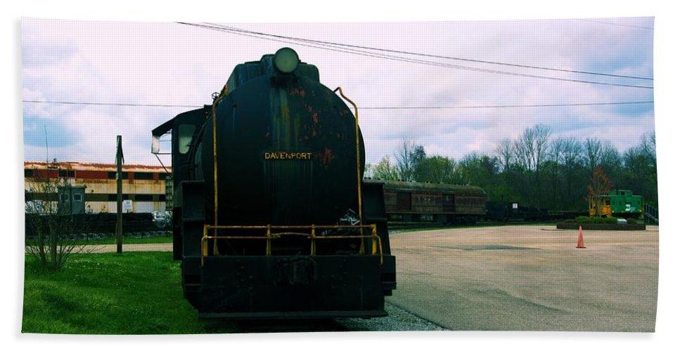 Train Beach Towel featuring the photograph Trains 3 7 by Jay Mann