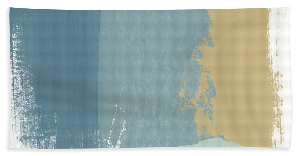 Abstract Beach Towel featuring the mixed media Tranquil Abstract 1- Art By Linda Woods by Linda Woods