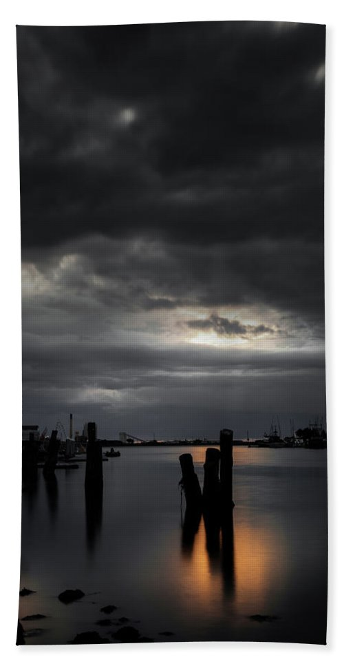 Sunset Beach Towel featuring the photograph Tranquil by Mark Alder