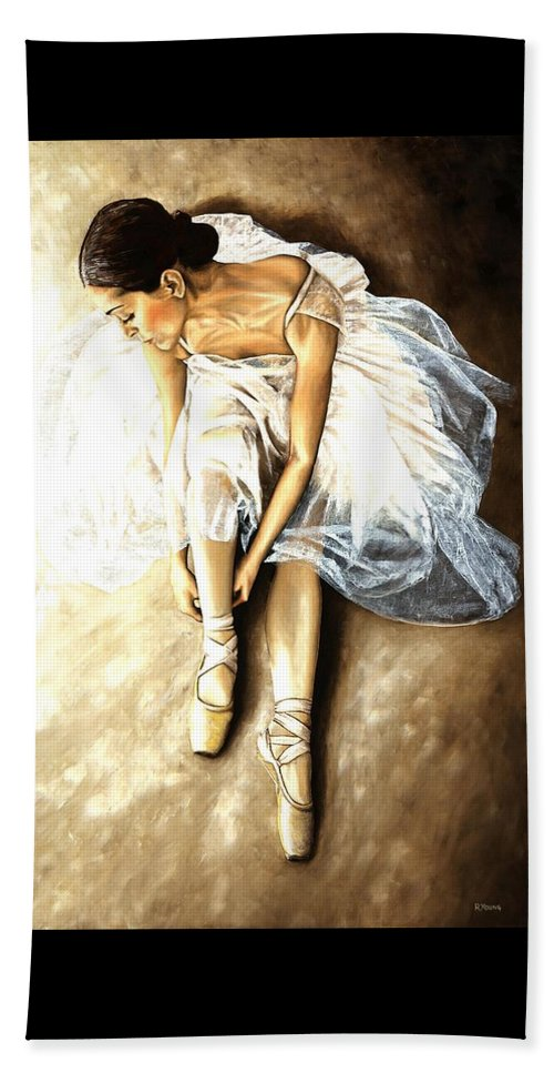 Ballet Beach Towel featuring the painting Tranquil Preparation by Richard Young