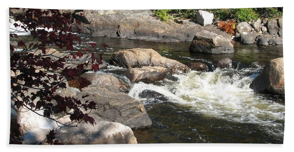 River Beach Towel featuring the photograph Tranquil Spot by Kelly Mezzapelle