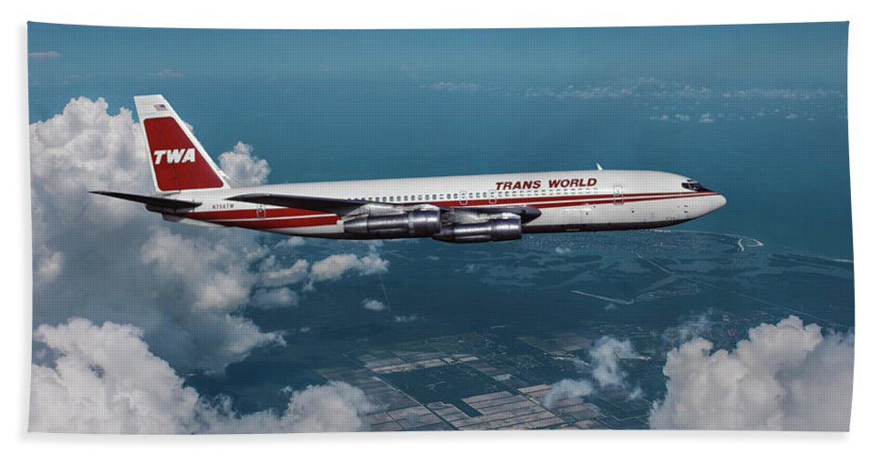 Trans World Airlines Boeing 707 Beach Sheet