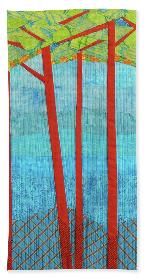 Tree Beach Towel featuring the tapestry - textile Transitions 1 by Linda Beach