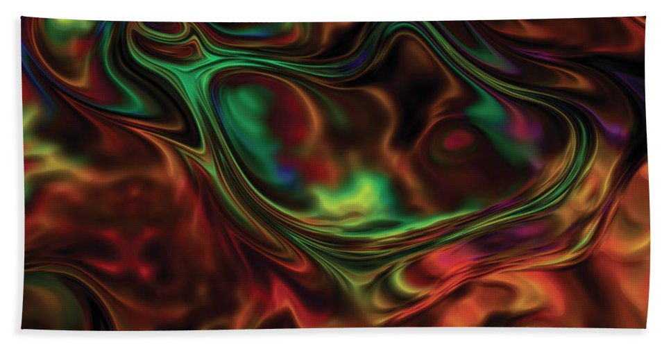Abstract Beach Towel featuring the digital art Transmogrification by Amy Nordby
