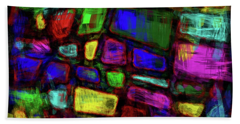 Trapezoid Beach Towel featuring the digital art Trapezoidal Skews by Diane Parnell