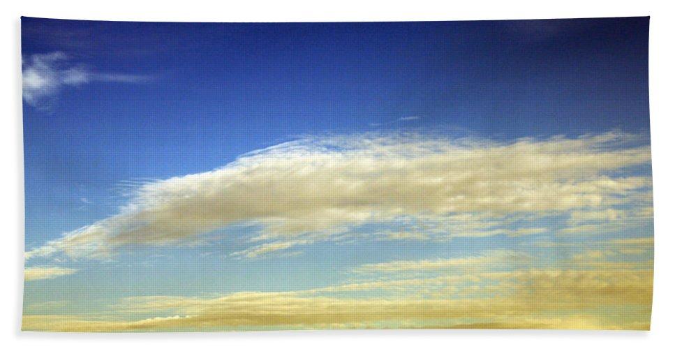 Cloud Beach Towel featuring the photograph Travel Through Clouds by Munir Alawi