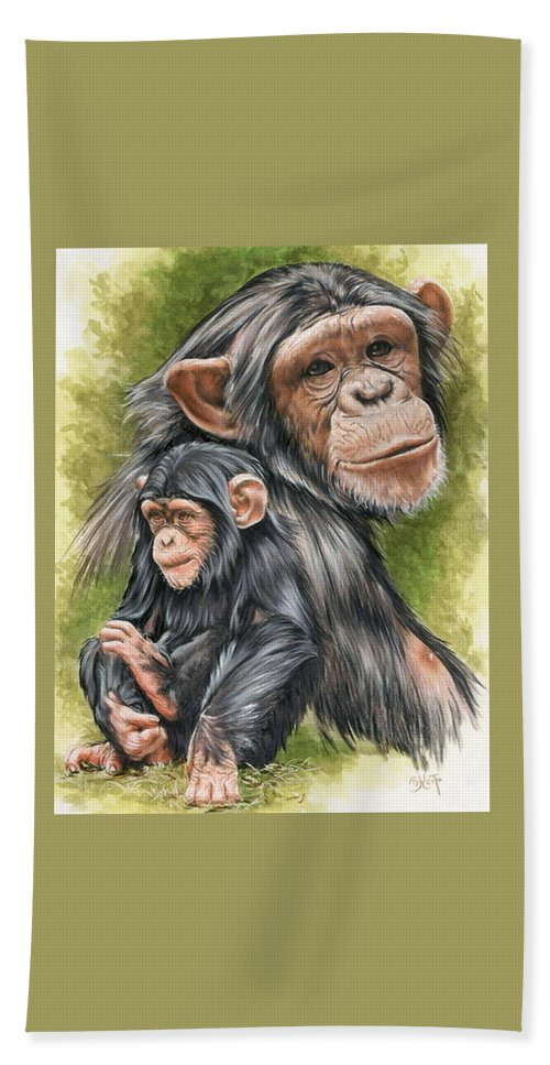 Chimpanzee Beach Towel featuring the mixed media Treasure by Barbara Keith