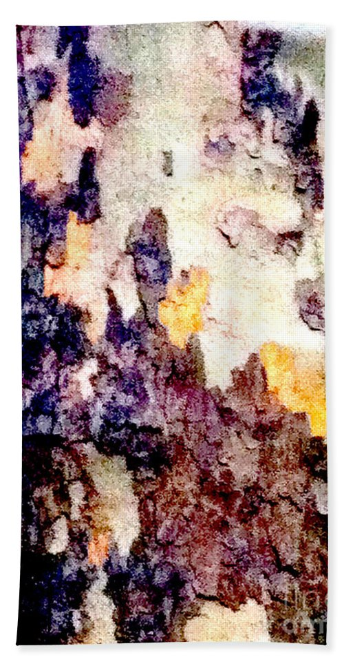 Abstract Beach Towel featuring the photograph Tree Bark 2 by Ken Lerner
