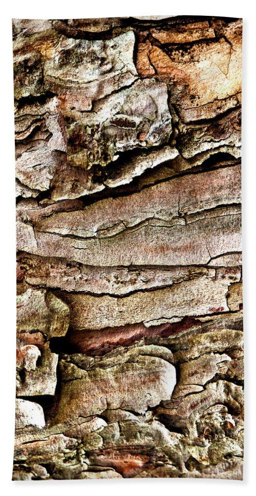Tree Bark Beach Towel featuring the photograph Tree Bark Abstract by Onyonet Photo Studios