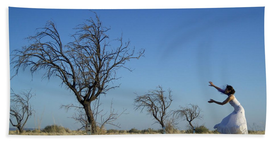 Landscape Beach Sheet featuring the photograph Tree Echo by Scott Sawyer