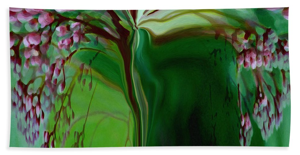 Tree Life Art Beach Towel featuring the digital art Tree Of Life by Linda Sannuti