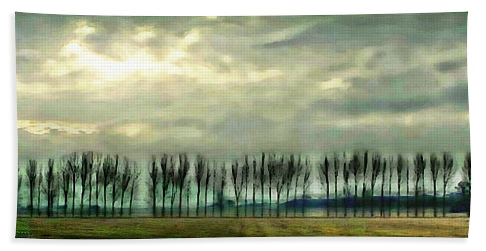 Trees Beach Towel featuring the photograph Treeline by Ellen Cannon