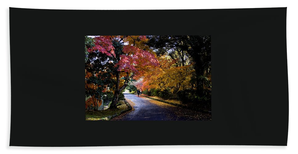 Trees Beach Towel featuring the photograph Trees In Japan 1 by George Cabig
