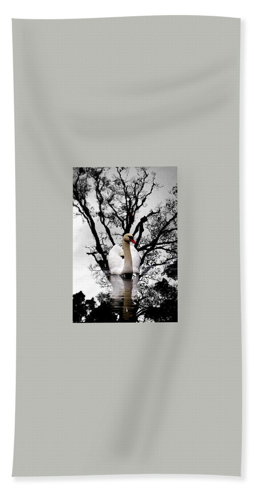 Water Beach Towel featuring the photograph Trees In Japan 6 by George Cabig