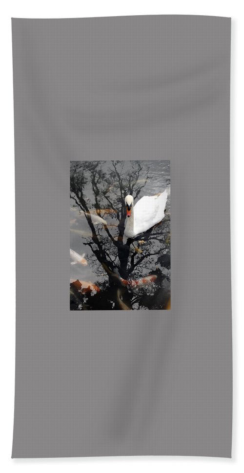 Water Beach Towel featuring the photograph Trees In Japan 7 by George Cabig