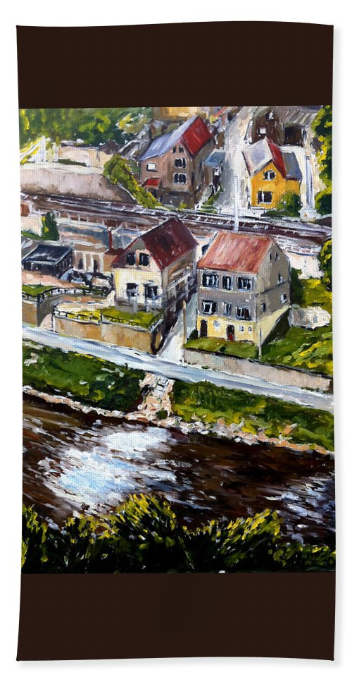 Landscape Beach Towel featuring the painting Tri V Jednom by Pablo de Choros