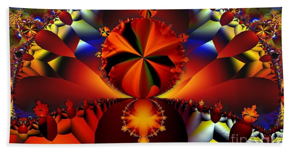 Fractal Beach Towel featuring the digital art Trinity by Ron Bissett
