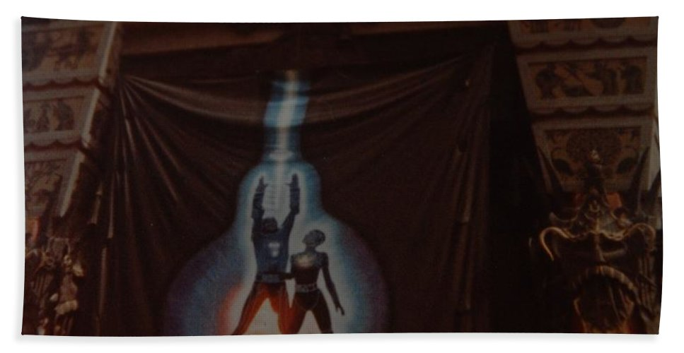 Grumanns Chinese Theater Beach Towel featuring the photograph Tron by Rob Hans