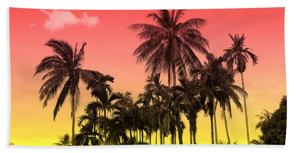 Beach Towel featuring the photograph Tropical 9 by Mark Ashkenazi
