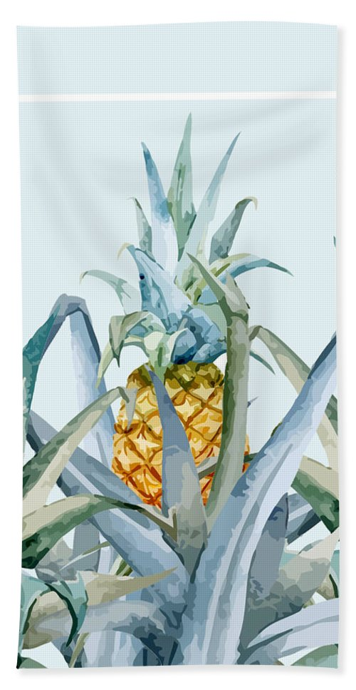 Summer Beach Towel featuring the painting Tropical Feeling by Mark Ashkenazi