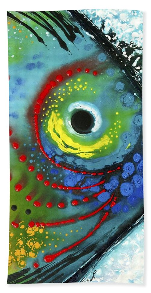 Animals Art Beach Towel featuring the painting Tropical Fish by Sharon Cummings