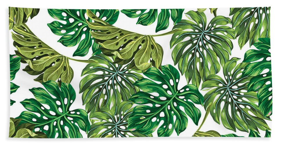 Summer Beach Towel featuring the photograph Tropical Haven by Mark Ashkenazi