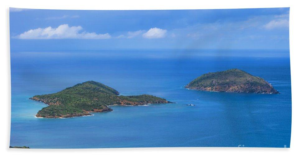 Tropical Islands Beach Towel featuring the photograph Tropical Islands In The Caribbean Sea by Olga Hamilton