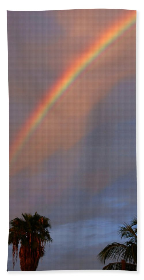 Photography Beach Towel featuring the photograph Tropical Rainbow by Susanne Van Hulst