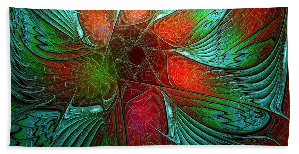 Digital Art Beach Towel featuring the digital art Tropical Tones by Amanda Moore