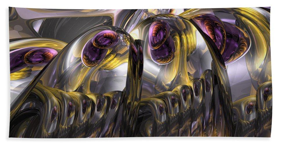 3d Beach Towel featuring the digital art Tropical Wind Abstract by Alexander Butler