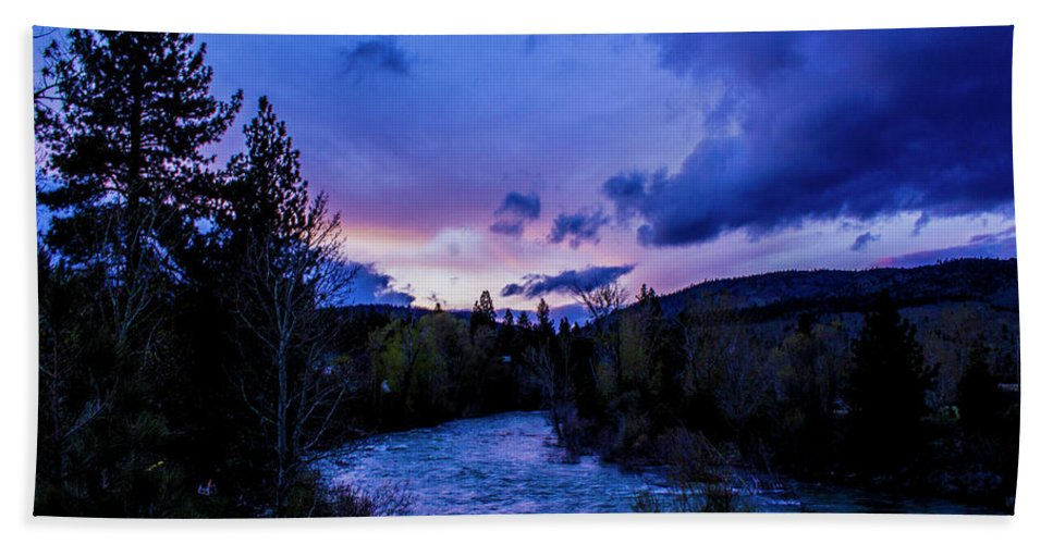 Truckee Beach Towel featuring the photograph Truckee River Sunset by Jason Minnig