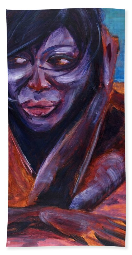 Girl Beach Sheet featuring the painting Tuesday by Jason Reinhardt