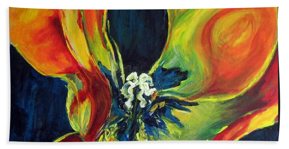 Tulip Beach Towel featuring the painting Tulip by Dragica Micki Fortuna