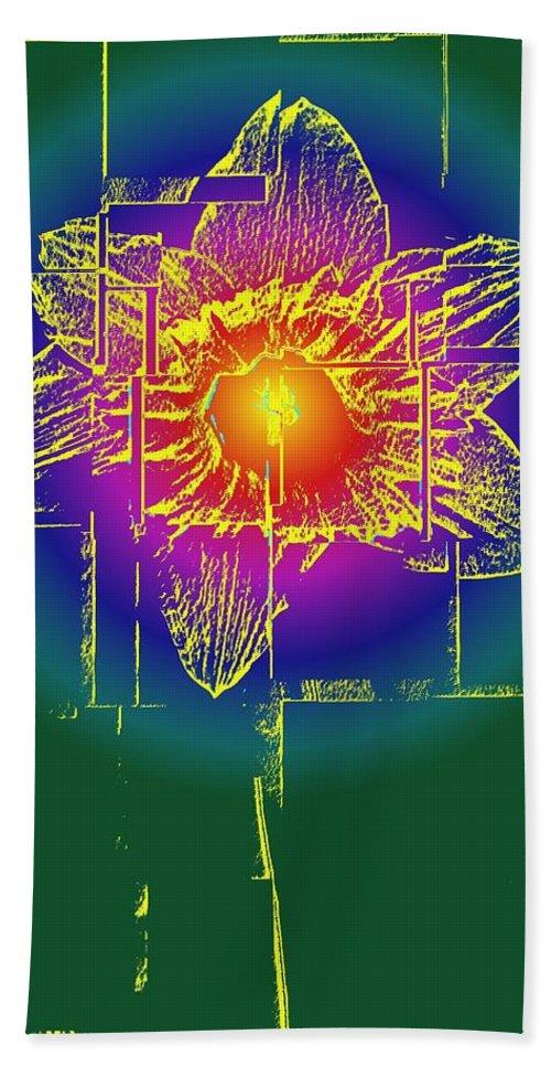 Tulip Beach Towel featuring the digital art Tulip by Tim Allen