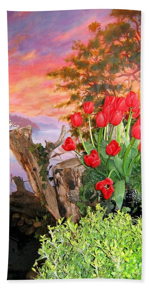 Agriculture Beach Towel featuring the photograph Tulip Town 19 by Will Borden