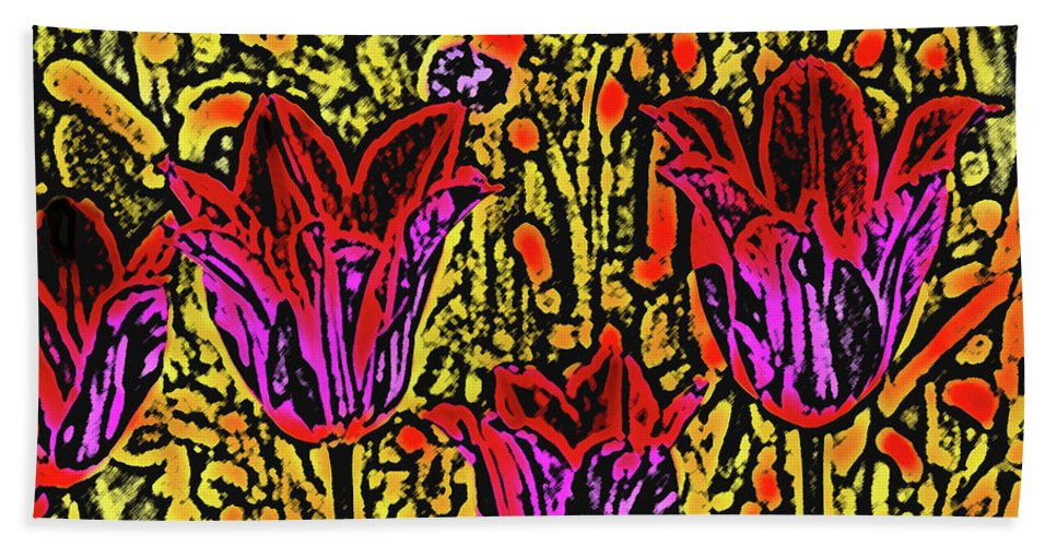 Tulips Beach Towel featuring the photograph Tulips Are Tulips by Susanne Van Hulst