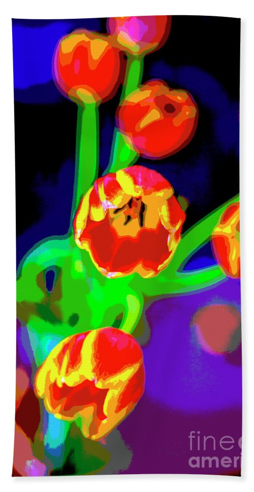 Tulips Beach Towel featuring the photograph Tulips In Abstract by Greg Kopriva