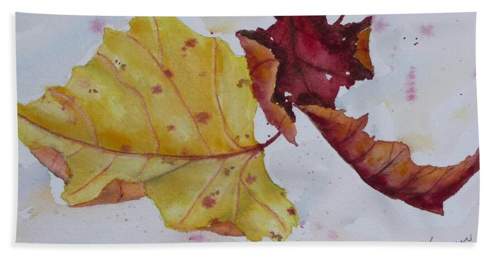 Fall Beach Sheet featuring the painting Tumbling by Ruth Kamenev