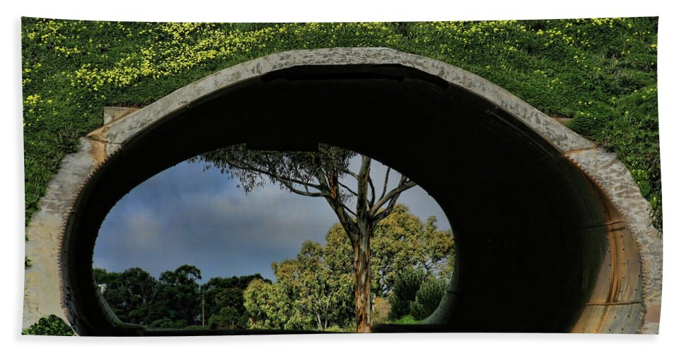 Tunnel Beach Towel featuring the photograph Tunnel Vision by Douglas Barnard