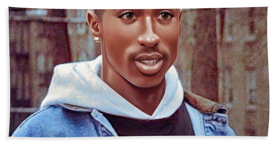 Tupac Shakur Drawing Beach Towel For Sale By Jovemini Art