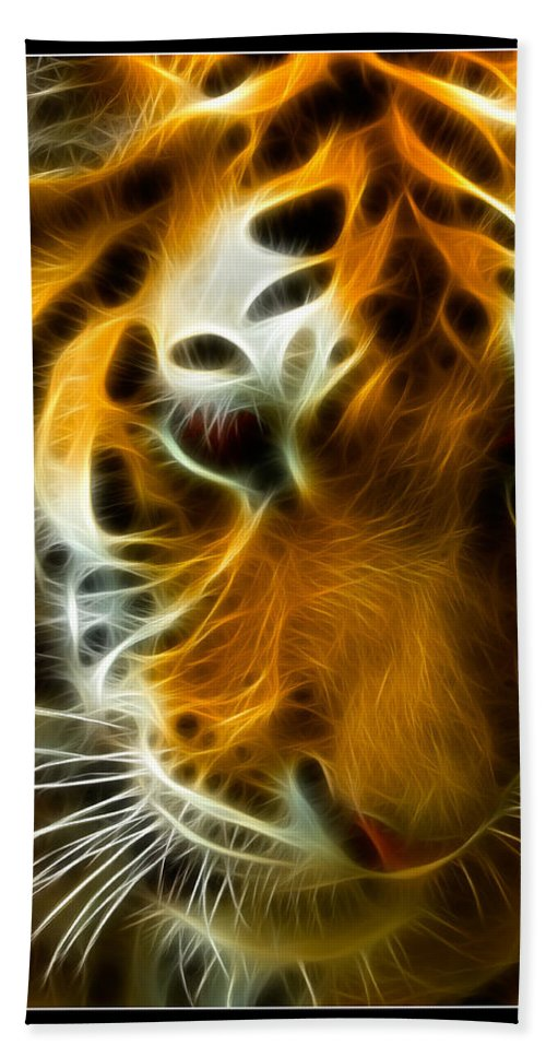 Bengal Beach Towel featuring the photograph Turbulent Tiger by Ricky Barnard