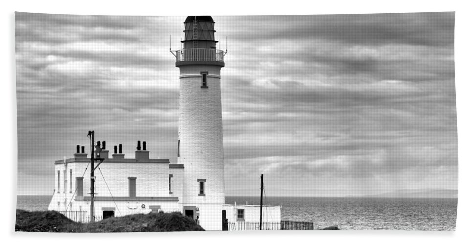 Lighthouse Beach Towel featuring the photograph Turnberry Lighthouse by Eunice Gibb